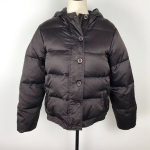 Old Navy Brown Puffer Fleece Lined Jacket Size L